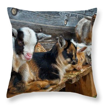 Sleepy Afternoon Throw Pillow