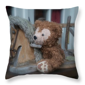 Throw Pillow featuring the photograph Sleepy Cowboy Bear by Thomas Woolworth