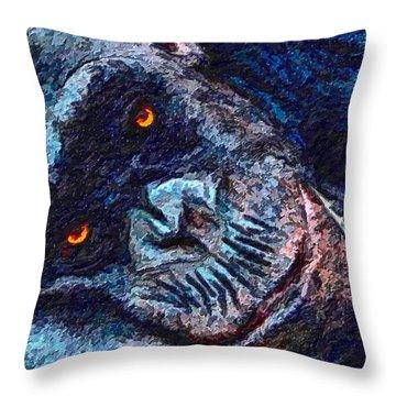 Sleepy Head Throw Pillow by Adam Olsen