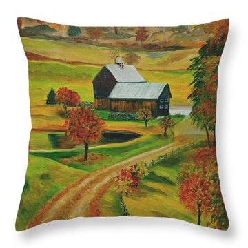 Sleepy Hollow Farm Throw Pillow