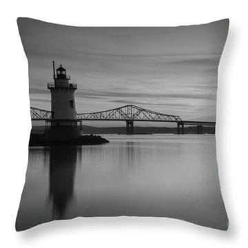 Sleepy Hollow Lighthouse Bw Throw Pillow