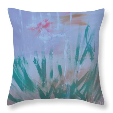 Throw Pillow featuring the painting Sleepy Pond by PainterArtist FIN