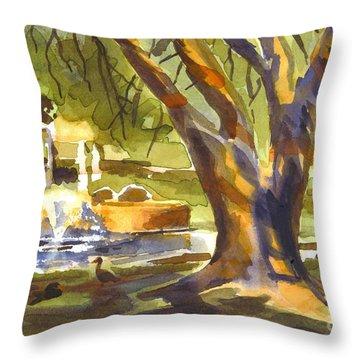 Sleepy Summers Morning Throw Pillow