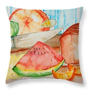 Slice It Throw Pillow by Elaine Duras