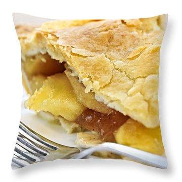 Slice Of Apple Pie Throw Pillow by Elena Elisseeva