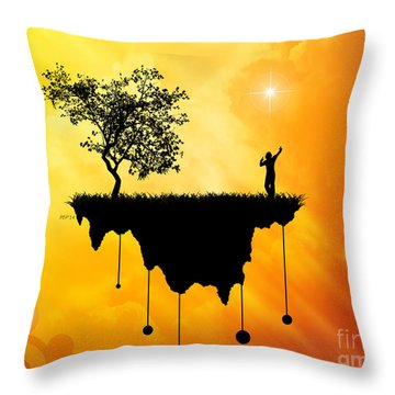Throw Pillow featuring the digital art Slice Of Earth by Phil Perkins