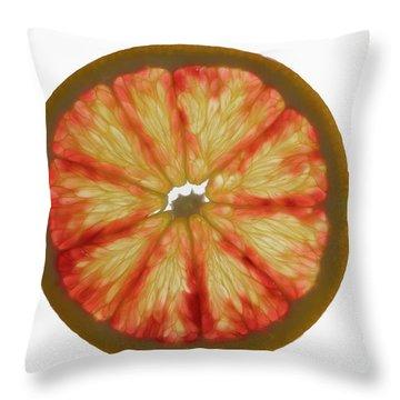 Slice Of Grapefruit, Backlit Throw Pillow