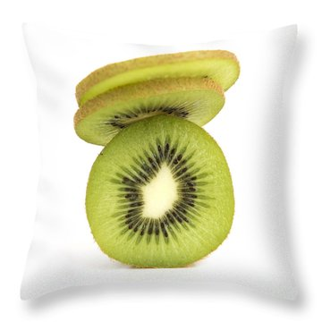 Sliced Kiwis Throw Pillow
