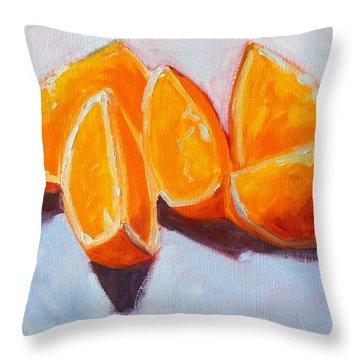 Sliced Throw Pillow by Nancy Merkle