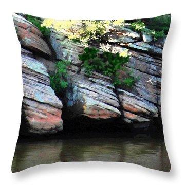 Sliced Rock Throw Pillow by Natalie Ortiz