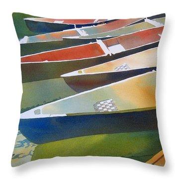 Slices Throw Pillow by Kris Parins
