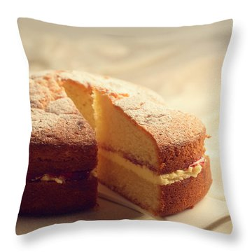 Slicing The Cake Throw Pillow
