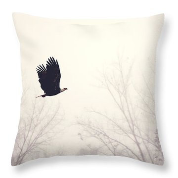 Slicing Through The Fog Throw Pillow by Melanie Lankford Photography