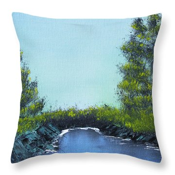 Slickrock Pond Throw Pillow