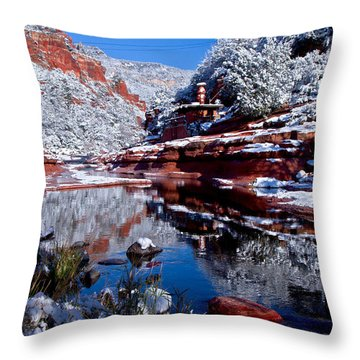 Throw Pillow featuring the photograph Slide Rock  by Tom Kelly