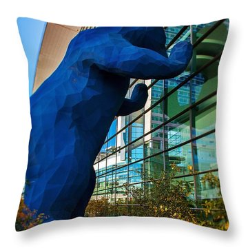 Slightly Blurry Denver Bear Throw Pillow by For Ninety One Days