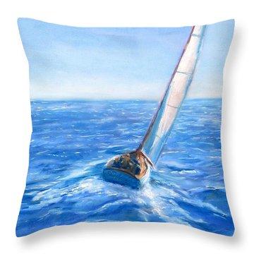 Slip Away Throw Pillow by Jack Skinner
