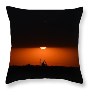 Sliver Of A Sunset Throw Pillow
