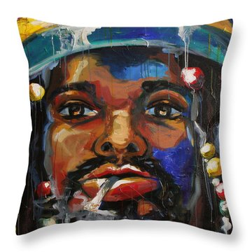 Slo Jammin' Throw Pillow by Julia Pappas