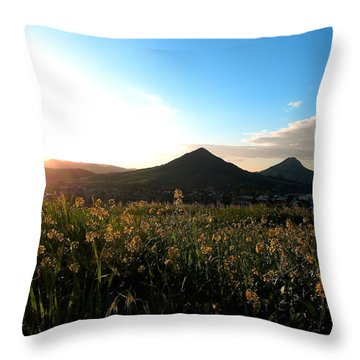 Slo Mustard Throw Pillow by Paul Foutz