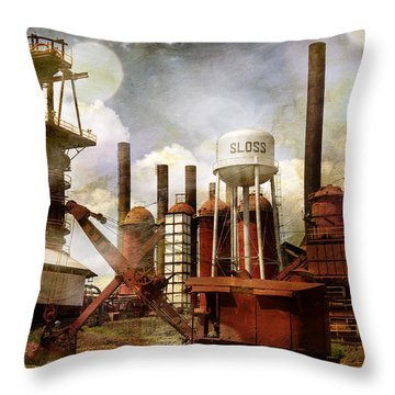 Sloss Furnace II Throw Pillow by Davina Washington