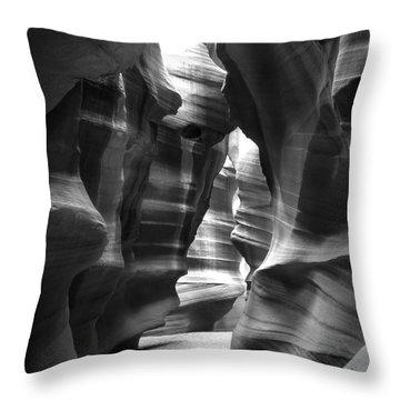 Slot Canyon 1 Throw Pillow by Mike McGlothlen
