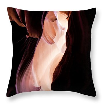 Slot Canyon Arizona Throw Pillow