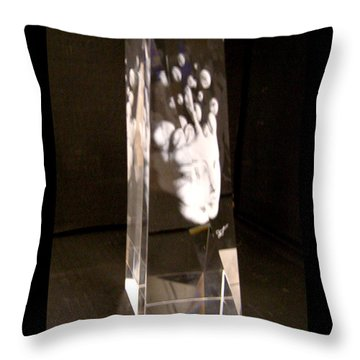 Slow Boil Crystal Sculpture 6 Throw Pillow by Dia T