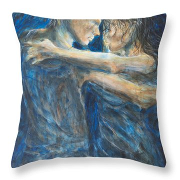 Slow Dancing Iv Throw Pillow by Nik Helbig