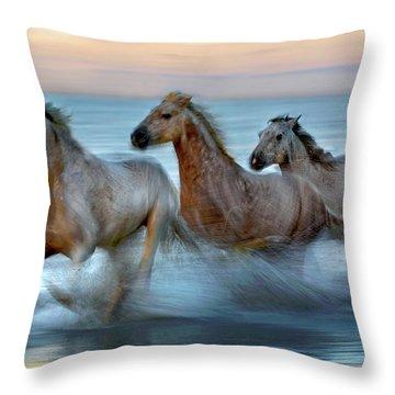 Running Water Throw Pillows