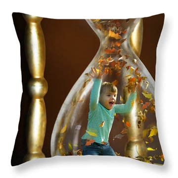 Slowing Time's Passage Throw Pillow by Doug Kreuger
