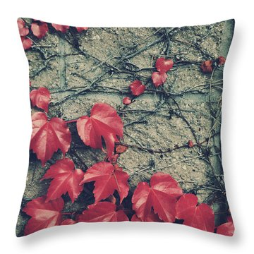 Slowly Dying Throw Pillow by Laurie Search