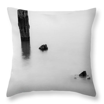 Throw Pillow featuring the photograph Slowly Washing Away by Andrew Pacheco