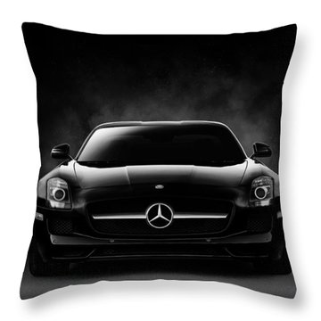 Sls Black Throw Pillow