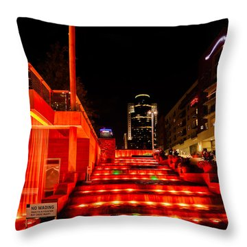 Smale Park At Night Throw Pillow