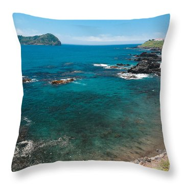 Small Bay And Islet Throw Pillow by Gaspar Avila