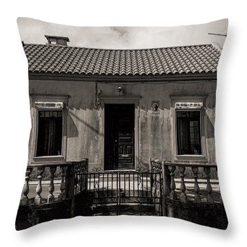 Small Country House With Tiled Roof  Throw Pillow