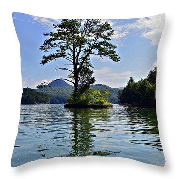 Small Island Throw Pillow by Susan Leggett
