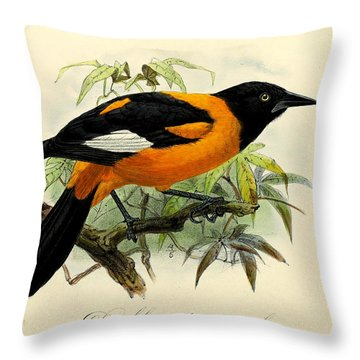 Oriole Throw Pillows