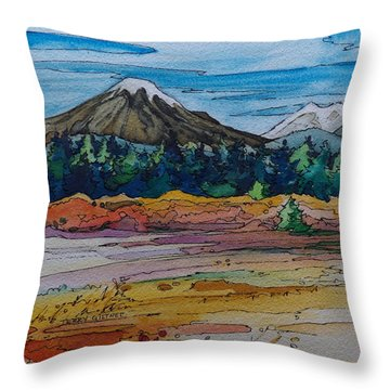 Small Sunriver Scene Throw Pillow by Terry Holliday