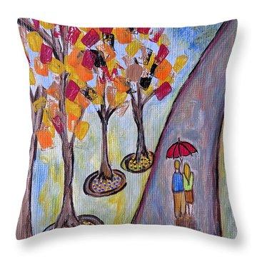 Small Talk Throw Pillow by Ella Kaye Dickey