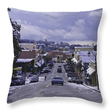 Throw Pillow featuring the photograph Small Town America by Sherri Meyer