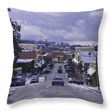 Small Town America Throw Pillow by Sherri Meyer