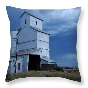 Throw Pillow featuring the photograph Small Town Hot Night Big Storm by Cathy Anderson