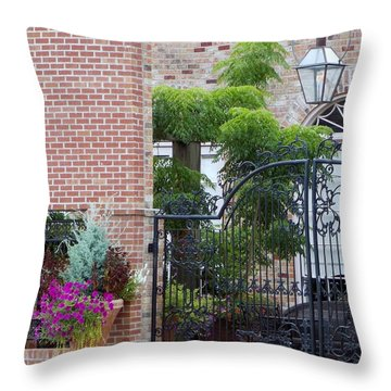 Throw Pillow featuring the photograph Small Town Meeting Place by John Glass