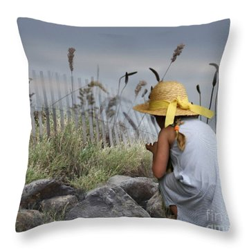 Small Wonders Throw Pillow by Mary Lou Chmura