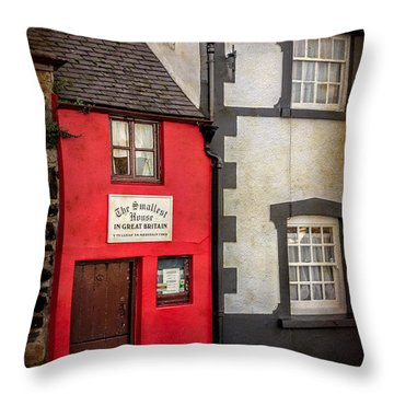 Throw Pillow featuring the photograph Smallest House by Adrian Evans