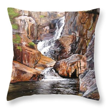 Smalls Falls Maine Throw Pillow by Kevin F Heuman
