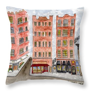 Small's Jazz Club On West 10th Street Throw Pillow