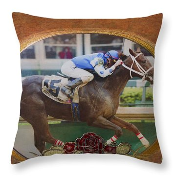 Smarty Jones Throw Pillow